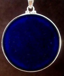 Cosmic Owl lapis lazuli 03 Gemstone Pendant