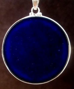 Cosmic Owl lapis lazuli 05 Gemstone Pendant