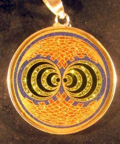 Double Gateway lapis lazuli 03 Gemstone Pendant