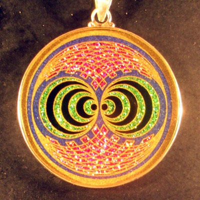 Double Gateway lapis lazuli 04 Gemstone Pendant