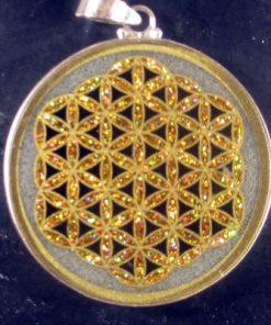 Flower of Life quartz 05 Gemstone Pendant