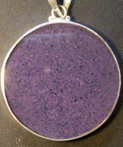 Om charoite 01 Gemstone Pendant