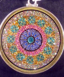 Rose Window tourmaline 11 Gemstone Pendant
