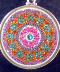 Rose Window turquoise 06 Gemstone Pendant