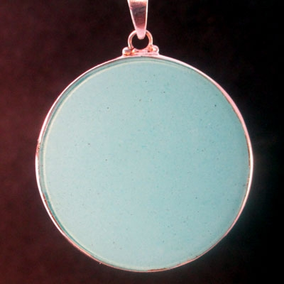 Rose Window turquoise 06 Gemstone Pendant