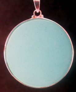 Tube Torus turquoise 06 Gemstone Pendant