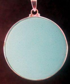 Tube Torus turquoise 08 Gemstone Pendant