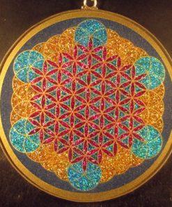 Fruit of Life lapis lazuli jumbo 01 Gemstone Pendant