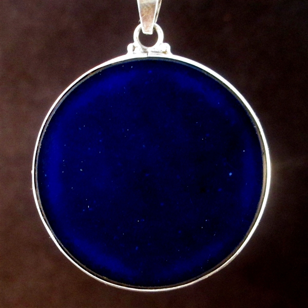 Fruit of Life lapis lazuli jumbo 01 Gemstone Pendant