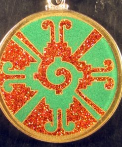 Galactic Butterfly malachite 03 Gemstone Pendant