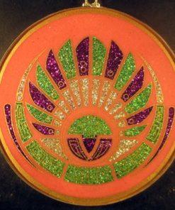 Mayan Head rhodochrosite jumbo 01 Gemstone Pendant