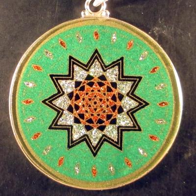 Shield of Michael malachite 08 Gemstone Pendant