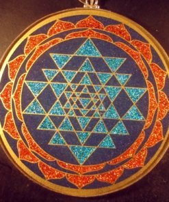 Sri Yantra lapis lazuli jumbo 01 Gemstone Pendant