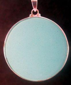Sri Yantra turquoise jumbo 02 Gemstone Pendant