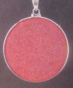 Sri Yantra Rhodochrosite 07 Gemstone Pendant