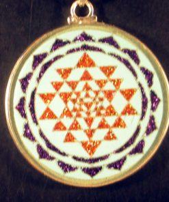 Sri Yantra turquoise 08 Gemstone Pendant