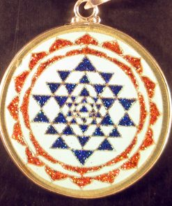 Sri Yantra turquoise 09 Gemstone Pendant