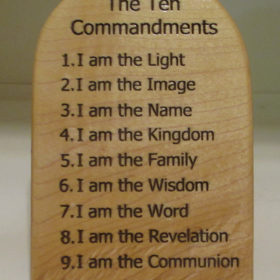 ten command light wood